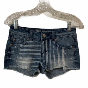 American Eagle Stars and Stripes Shorts